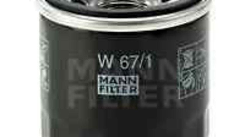 Filtru ulei MAZDA XEDOS 6 (CA) Producator MANN-FILTER W 67/1