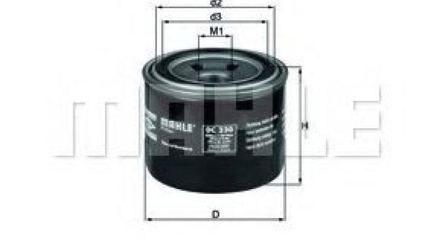 Filtru ulei MITSUBISHI LANCER VI (CJ-CP) (1995 - 2003) MAHLE ORIGINAL OC 230 - produs NOU