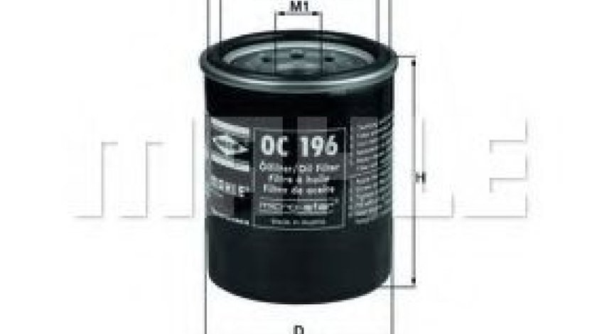 Filtru ulei MITSUBISHI LANCER VI (CJ-CP) (1995 - 2003) KNECHT OC 196 - produs NOU