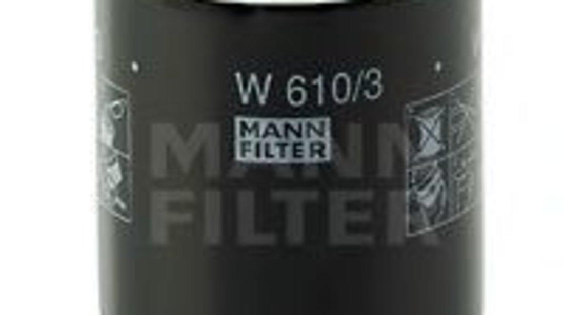 Filtru ulei MITSUBISHI OUTLANDER III (GF, GG, ZJ) (2012 - 2016) MANN-FILTER W 610/3 piesa NOUA