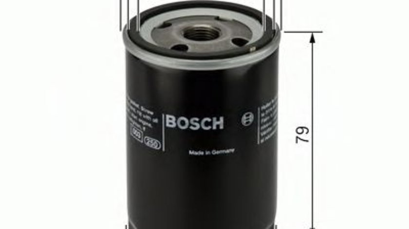 Filtru ulei OPEL ASTRA G Limuzina (F69) (1998 - 2009) BOSCH 0 451 103 297 - produs NOU