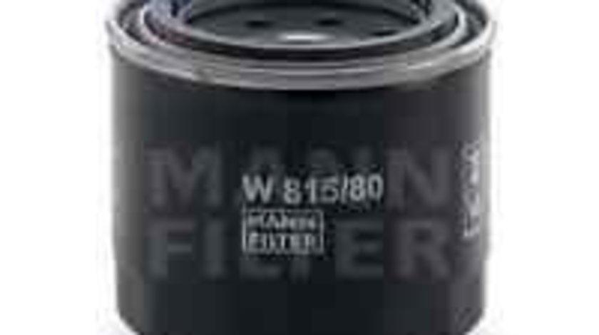 Filtru ulei Producator MANN-FILTER W 815/80
