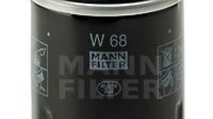 Filtru ulei RENAULT CLIO II (BB0/1/2, CB0/1/2) (1998 - 2005) MANN-FILTER W 68 produs NOU