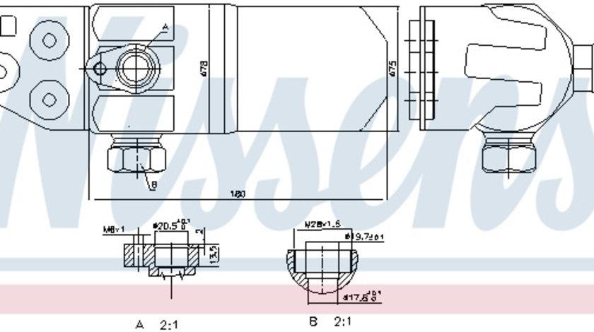 Filtru uscator AC AUDI A2 1.2D-1.6 intre 2000-2005