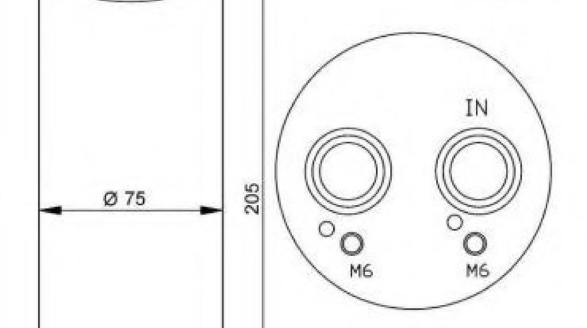 Filtru uscator clima / aer conditionat AUDI A4 (8K2, B8) (2007 - 2015) NRF 33205 produs NOU