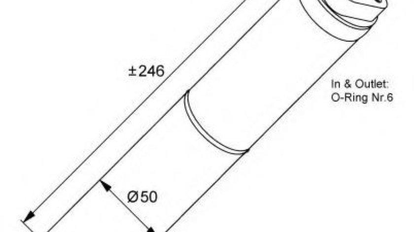 Filtru uscator clima / aer conditionat RENAULT CLIO III (BR0/1, CR0/1) (2005 - 2012) NRF 33133 produs NOU