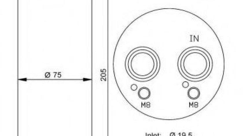 Filtru uscator clima / aer conditionat VW PASSAT (3B2) (1996 - 2001) NRF 33204 produs NOU
