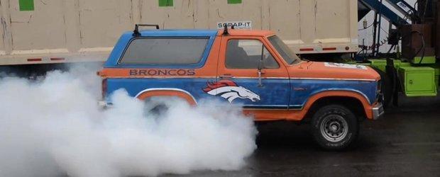 Finala Superbowl 2014 aduce dezastrul: un Ford Bronco a cazut victima colaterala