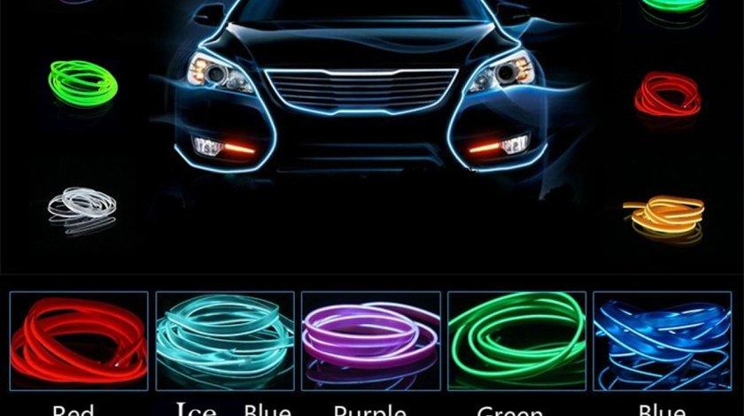Fir neon electroluminiscent (EL-WIRE) cu manseta (pt.auto)