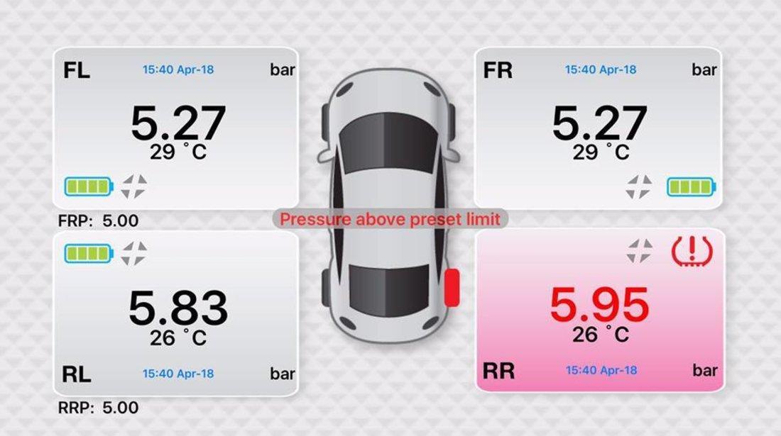 FOBO Sistem de monitorizare a presiunii si temperaturii anvelopelor prin Bluetooth