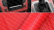 Folie carbon 3d rosie la 127cm x 100cm