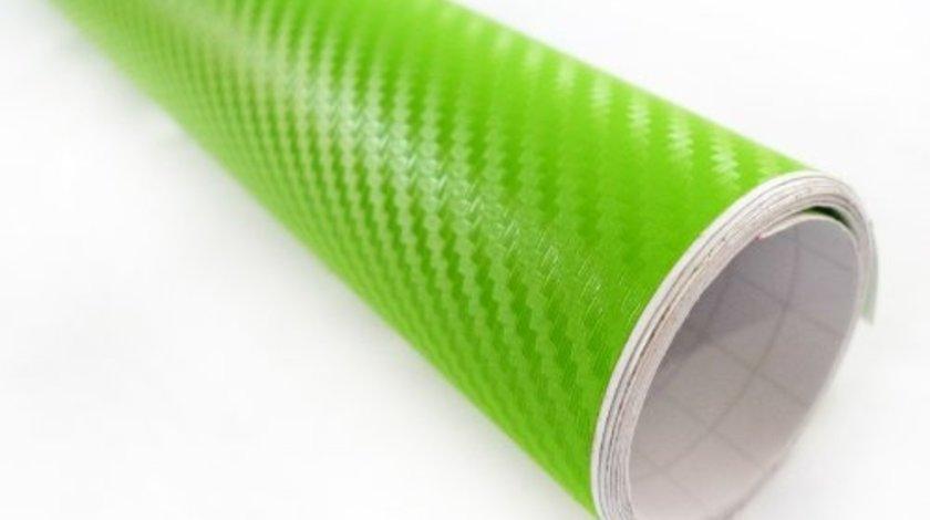 Folie carbon 3d verde deschis -booble free