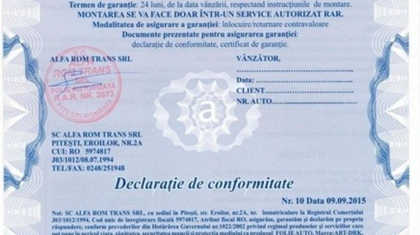 Folie geamuri auto omologata profesionala DRK 35% transparenta
