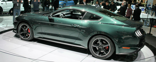 Ford a lansat la Geneva noul Mustang Bullitt. Masina americana combina un motor V8 cu o cutie manuala