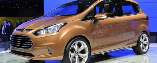 Ford B-Max, disponibil pentru clientii romani incepand cu a doua jumatate a lui 2012