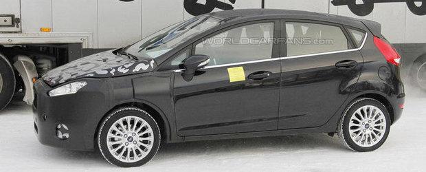 Ford Fiesta Facelift - Primele poze spion