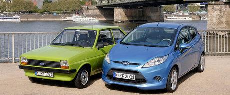 Ford Fiesta schimba prefixul. Modelul constructorului american implineste 40 de ani.