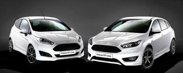 Ford introduce pachetul ST-Line pentru Focus si Fiesta