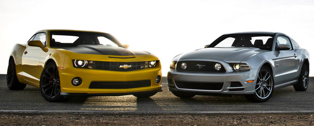 Ford Mustang 2015 vs. Chevrolet Camaro: care este mai bun?