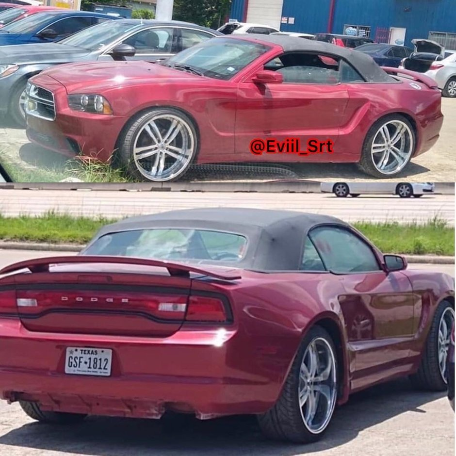Ford Mustang cu fata de Dodge Charger