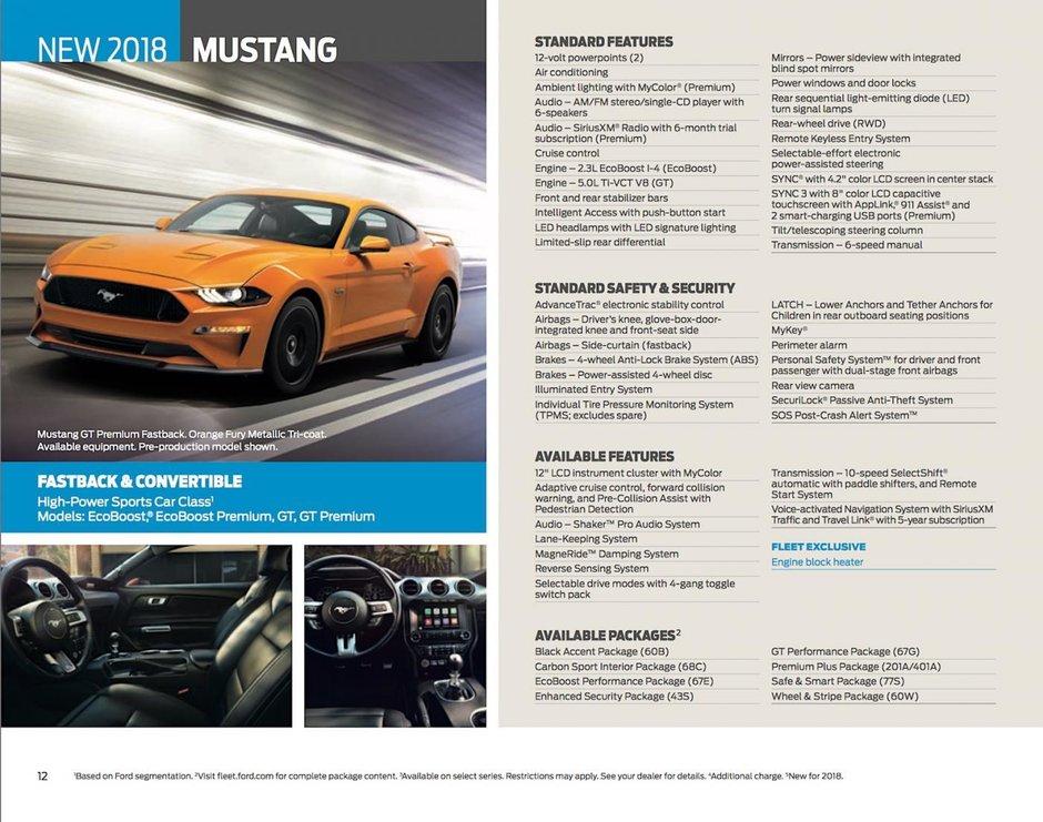 Ford Mustang Facelift - Brosura