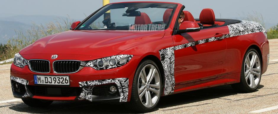 Foto Spion: Noul BMW Seria 4 Convertible pozeaza cabrio, intr-un rosu incantator