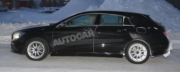 FOTO SPION: Noul Mercedes CLA Shooting Brake este doar un CLS mai mic!