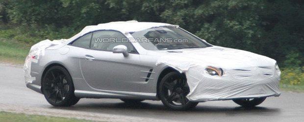 Foto Spion: Noul Mercedes SL63 AMG se lasa admirat in primele imagini spion