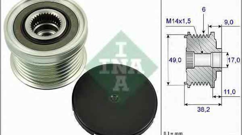 Fulie alternator FORD B-MAX INA 535 0268 10