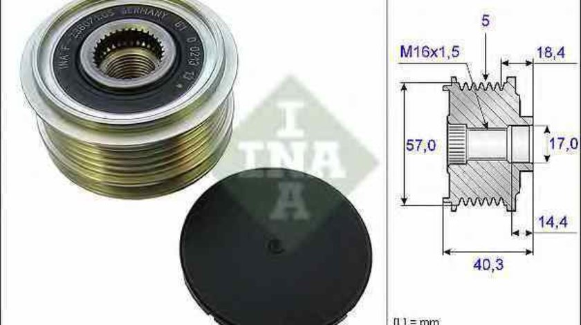 Fulie alternator KIA RIO III UB INA 535 0187 10