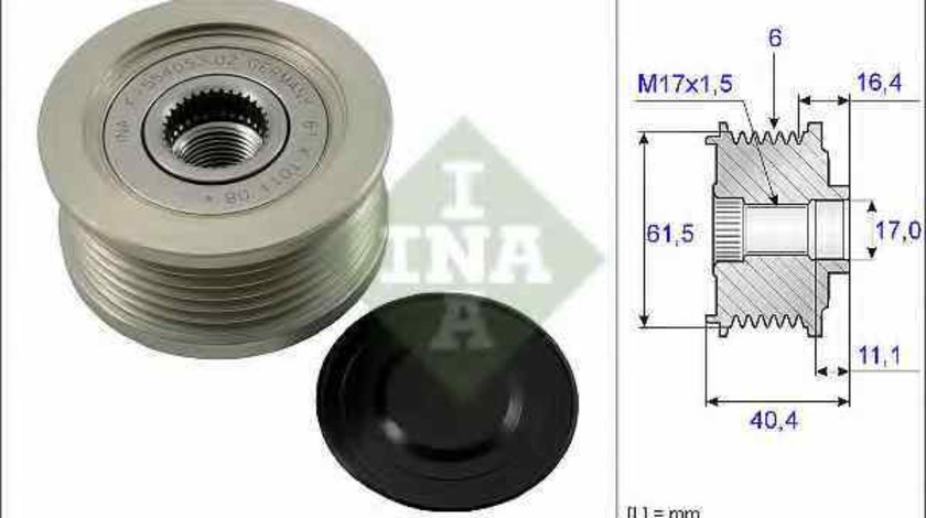 Fulie alternator OPEL ASTRA H caroserie L70 INA 535 0115 10