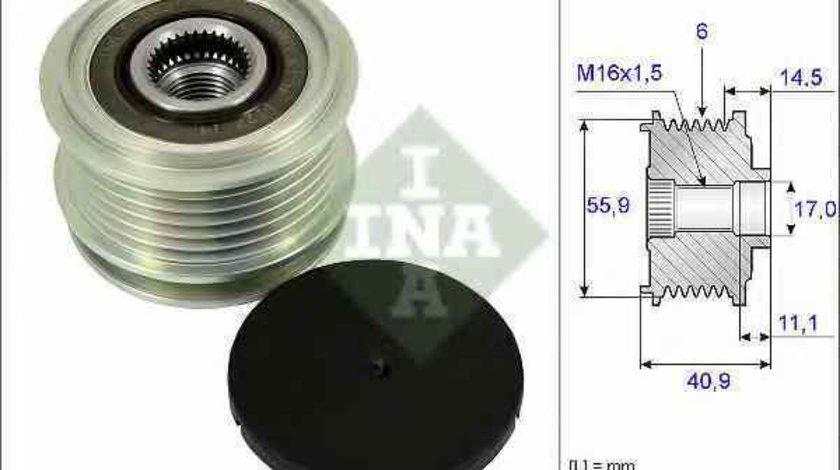 Fulie alternator SEAT CORDOBA 6K1 6K2 Producator INA 535 0012 10