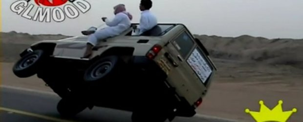 Funny Video: Arabii si mersul pe doua roti