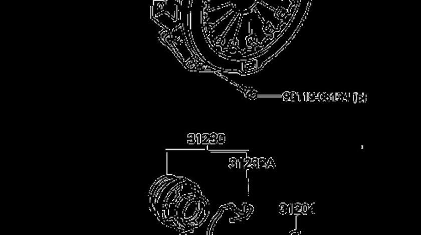 Furca decuplare cutie viteza Toyota Land Cruiser motor 3.0 D-4D (poz.1204) TOYOTA OE 31204‑60090