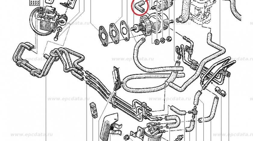 Furtun combustibil Renault R21 R19, cot conducta , original Renault 7700740974 Kft Auto