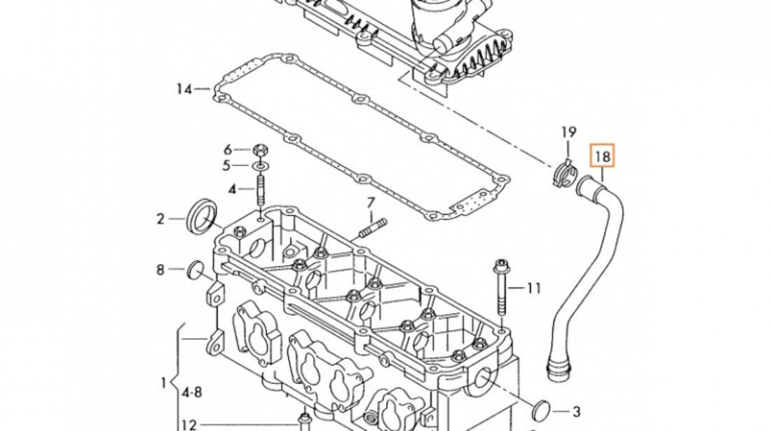 Furtun Epurator Gaze Am Vag Audi A3 8P 2003-2013 06A103217G