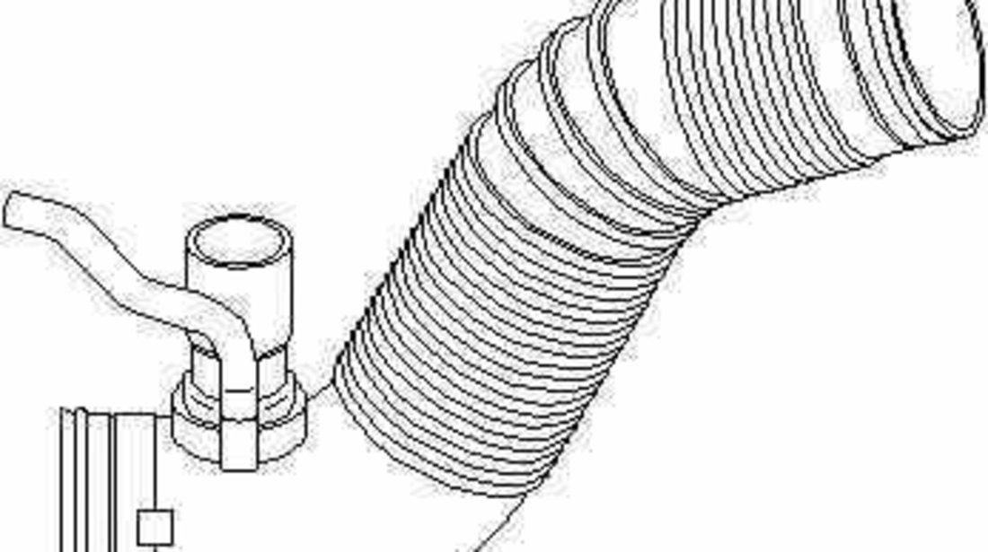 Furtun filtru aer VW BORA 1J2 TOPRAN 111 017