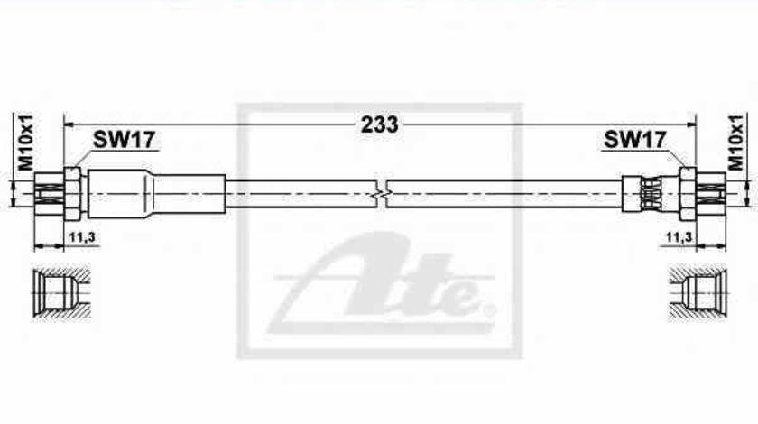 Furtun frana AUDI A3 Sportback 8PA ATE 83.7849-0231.3