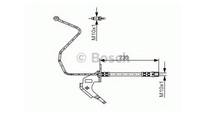 Furtun frana Opel Astra G (1999-2009)[T98,F70] #3 13116134