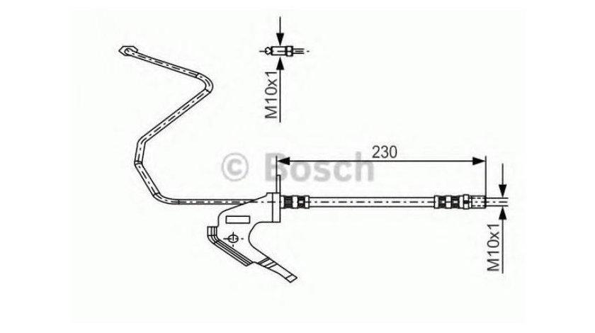Furtun frana Opel Astra G (1999-2009)[T98,F70] #3 13116133