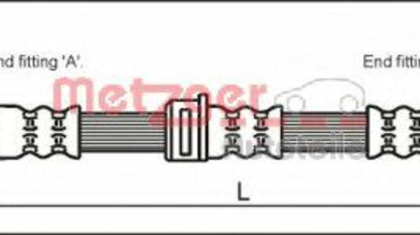 Furtun frana OPEL ASTRA G Limuzina (F69) (1998 - 2009) METZGER 4112825 piesa NOUA