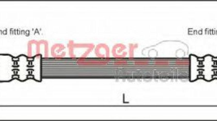 Furtun frana OPEL ASTRA G Limuzina (F69) (1998 - 2009) METZGER 4112818 piesa NOUA