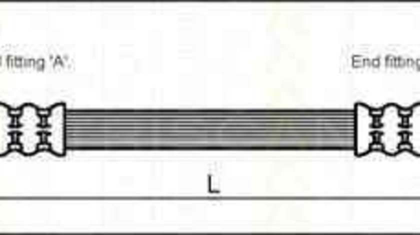 Furtun frana VAUXHALL ASTRA Mk IV (G) cupe (F67) TRISCAN 8150 24215