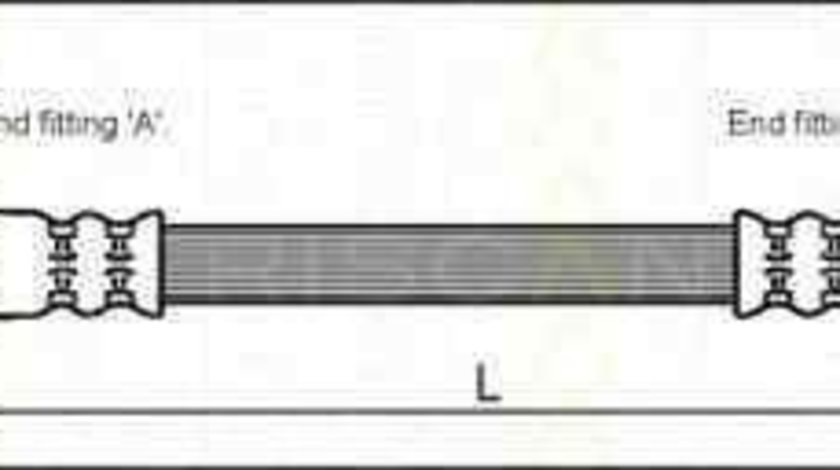 Furtun frana VAUXHALL ASTRA Mk V (H) combi TRISCAN 8150 24214