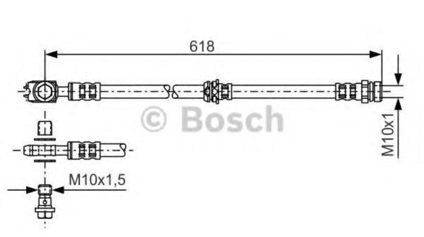 Furtun frana VW PASSAT Variant (365) (2010 - 2014) BOSCH 1 987 481 173 piesa NOUA