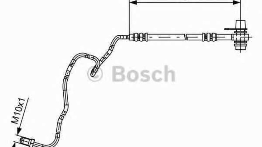 Furtun frana VW POLO 9N BOSCH 1 987 481 536
