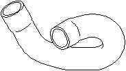 Furtun radiator OPEL ASTRA G caroserie F70 TOPRAN 207 336
