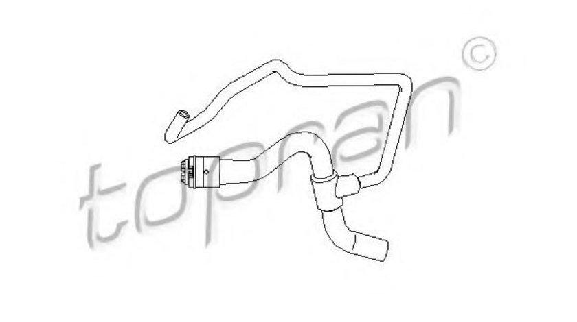 Furtun radiator OPEL ASTRA G Hatchback (F48, F08) (1998 - 2009) TOPRAN 207 683 piesa NOUA