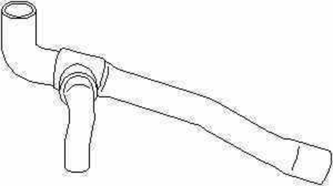 Furtun radiator SEAT ALHAMBRA 7V8 7V9 TOPRAN 109 009