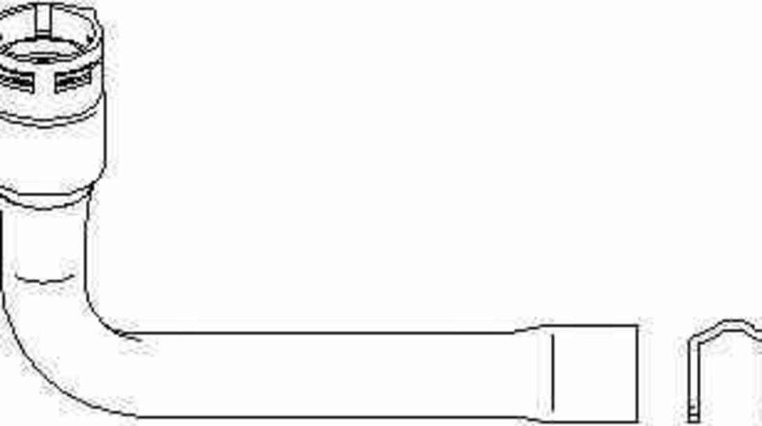 Furtun radiator SKODA SUPERB 3U4 TOPRAN 111 975